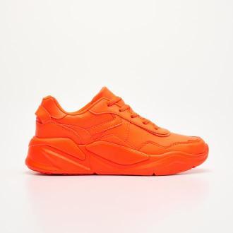 Cropp - Neonowe sneakersy - Czerwony