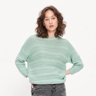 House - Ażurowy sweter - Zielony