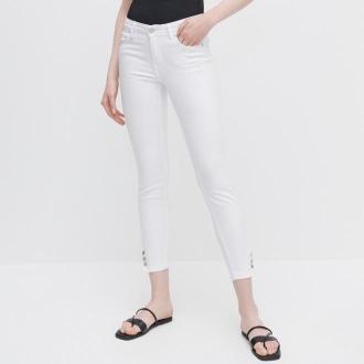 Reserved - Jeansy slim - Biały