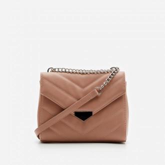 House - Pikowana torebka na łańcuszku - Różowy