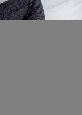Popielate botki wiosenne skórzane welurowe wzorek Maciejka 04091-03/00-5