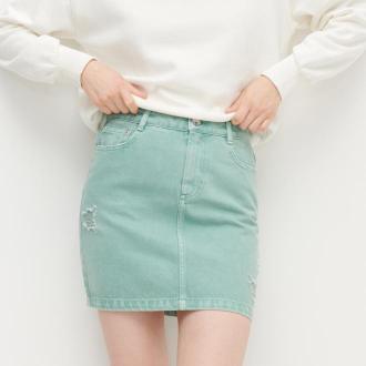 Reserved - Spódnica jeansowa - Turkusowy
