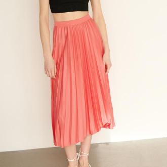 Reserved - Plisowana spódnica - Różowy