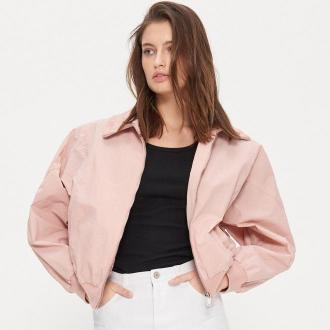 House - Krótka kurtka oversize - Różowy