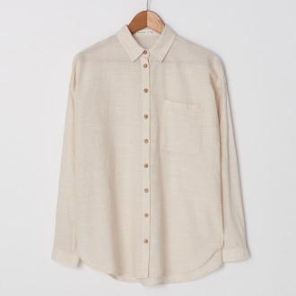 House - Koszula oversize z bawełny organicznej - Kremowy