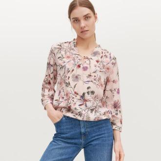 Reserved - Wzorzysta bluzka z wiskozy - Wielobarwny