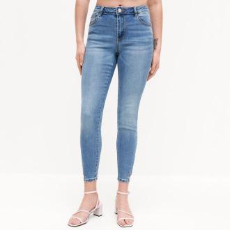 Reserved - Jeansy slim ze średnim stanem - Niebieski