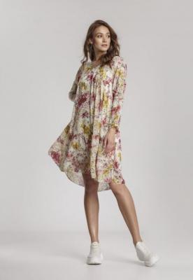 Kremowa Sukienka Idaliana
