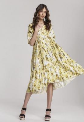 Żółta Sukienka Petoles
