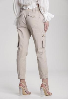 Beżowe Spodnie Joggery Atemisia