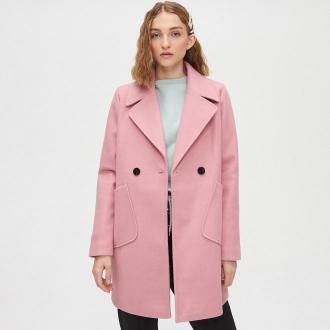 Cropp - Płaszcz dwurzędowy - Różowy
