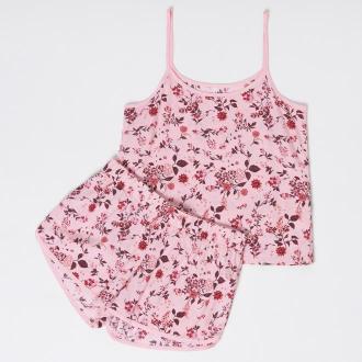 Sinsay - Dwucześciowa piżama z kwiatowym nadrukiem - Różowy