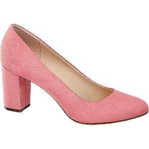 Różowe czółenka damskie Graceland na słupku