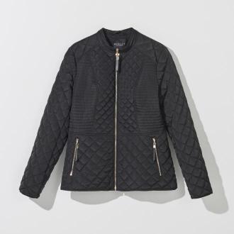 Mohito - Pikowana kurtka z ozdobnymi suwakami - Czarny