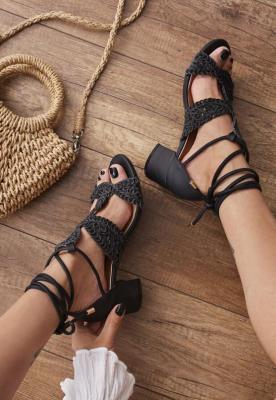 Czarne Sandały Avalila