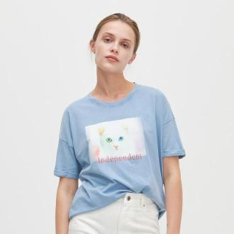 Reserved - T-shirt z nadrukiem - Niebieski