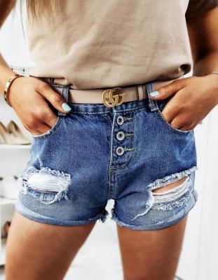 Spodenki damskie jeansowe MORGEN niebieskie SY0105
