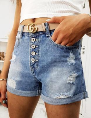Spodenki damskie jeansowe MARGARET niebieskie SY0111