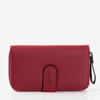 Mały klasyczny czerwony portfel - Portfel