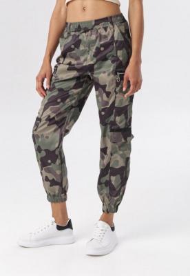 Zielone Spodnie Joggery Zelironis