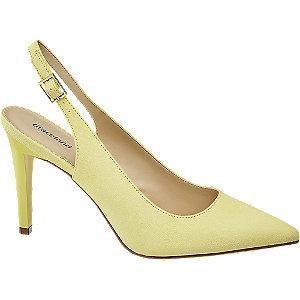 żółte szpilki damskie Graceland z odkrytą piętą