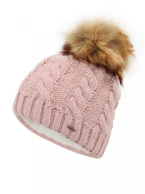 Wełniana różowa czapka o grubym splocie Starling