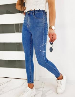Jeansy damskie Skinny Fit BELLA niebieskie UY0455