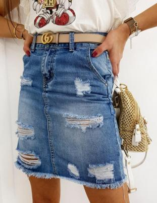 Spódniczka jeansowa SELLENA niebieska CY0264