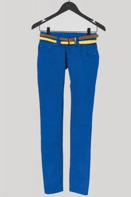 Kobaltowe damskie spodnie rurki - Odzież