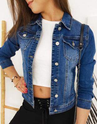 Kurtka damska jeansowa FAVERNO niebieska TY1255