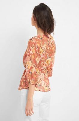 Szyfonowa bluzka w kwiaty