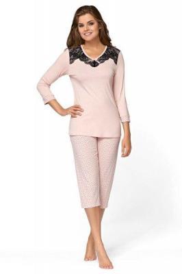 Babella Urszula Pudrowy Róż piżama damska