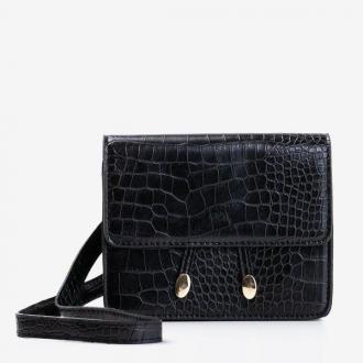 Damska torebka a'la nerka w kolorze czarnym  - Torebki
