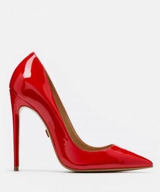 Czerwone czółenka damskie