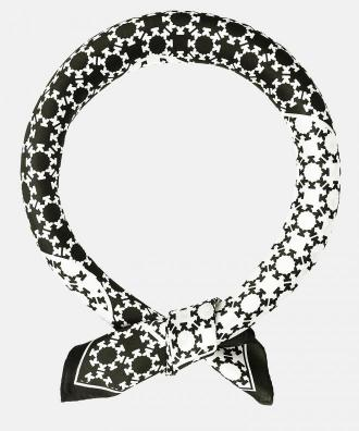 Czarno biała apaszka damska