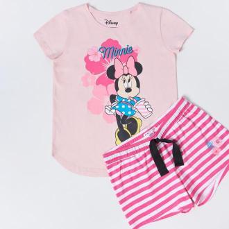 Sinsay - Bawełniana piżama Minnie Mouse - Pomarańczowy