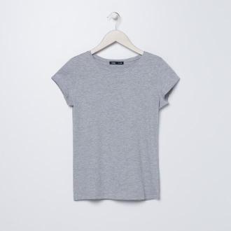 Sinsay - Gładka koszulka ECO AWARE - Jasny szary