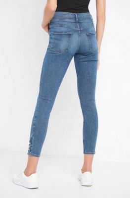 Jeansy skinny z wysokim stanem