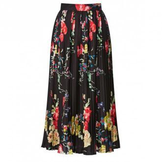 Spódnica plisowana w kwiaty - Zdjęcie 1