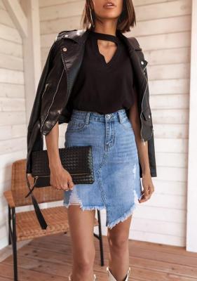 Spódnica Tsona -  jeans (XXL)