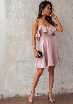 Sukienka Nimrata - pudrowy róż (XS)