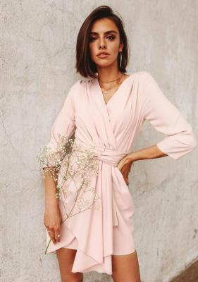 Sukienka Garib - pudrowy róż (S)