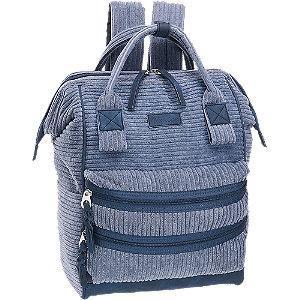 Niebieski sztruksowy plecak damski Venice