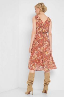 Sukienka w kwiaty bez rękawów