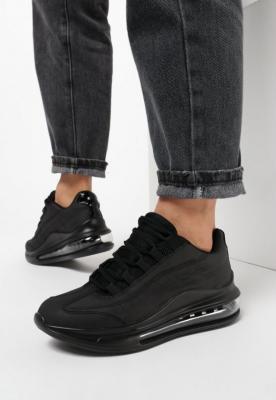 Czarne Matowe Sneakersy Pardia