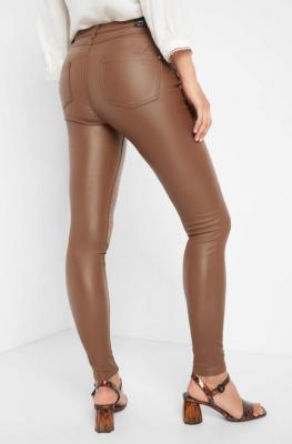 Woskowane spodnie skinny