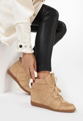 Beżowe Sneakersy Assala