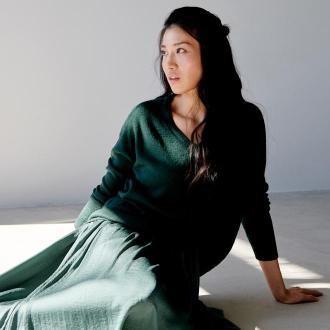 Sinsay - Dzianinowy sweter oversize - Khaki