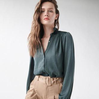 Sinsay - Klasyczna koszula z kołnierzykiem - Zielony