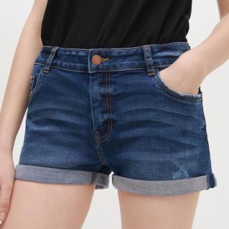 Reserved - Jeansowe szorty - Granatowy